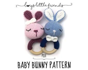 Baby Bunny Rattle Crochet Pattern Amigurumi PDF