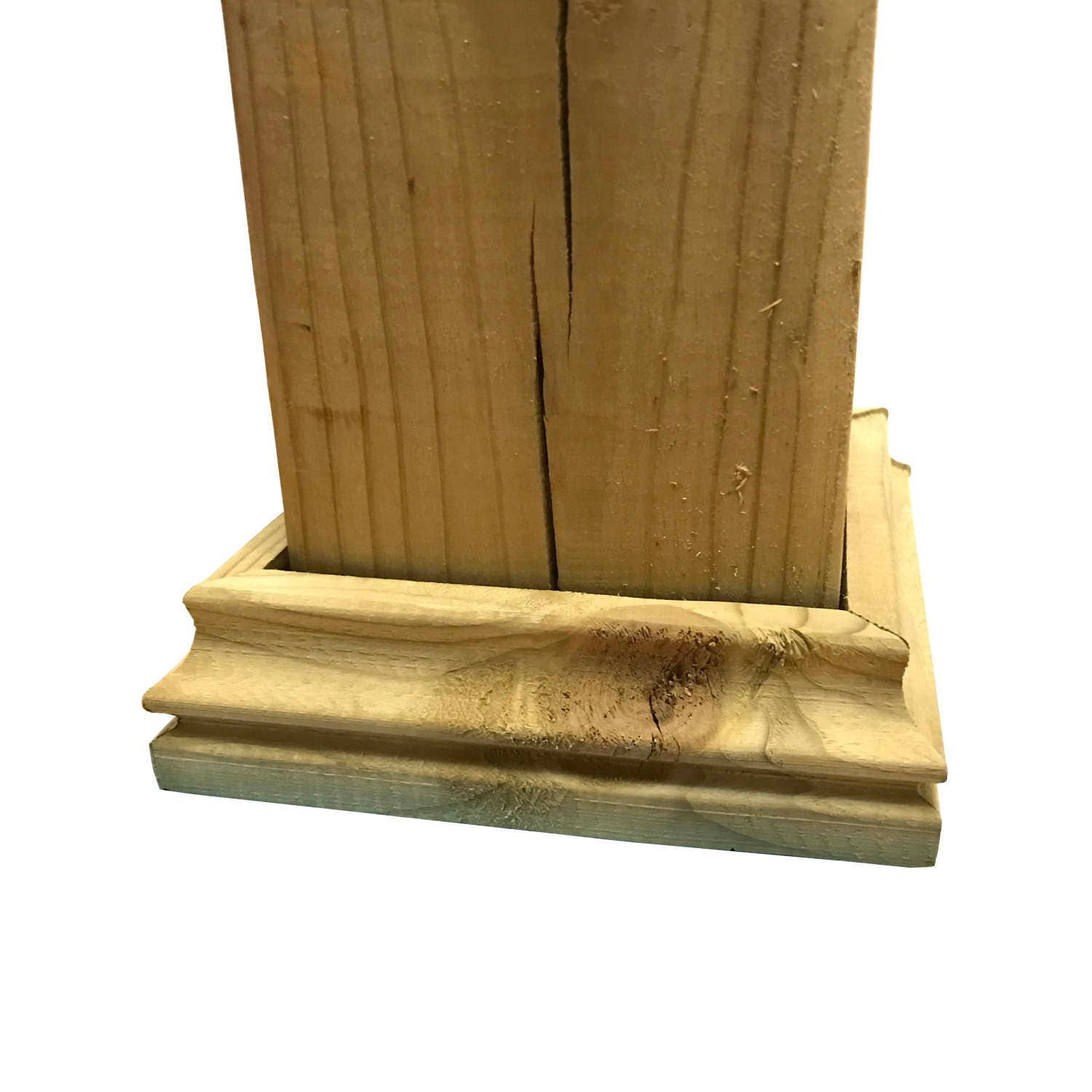 Wooden Post: Pressure Treated Wood Decorative Post Base For Fence And