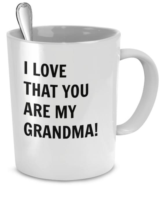 Babcia Coffee Cup Kocham Babci Kubki Na Kawę Cytaty Etsy