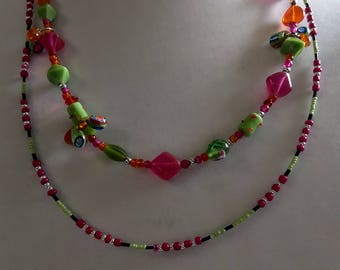 Pink Candy Colored Necklace