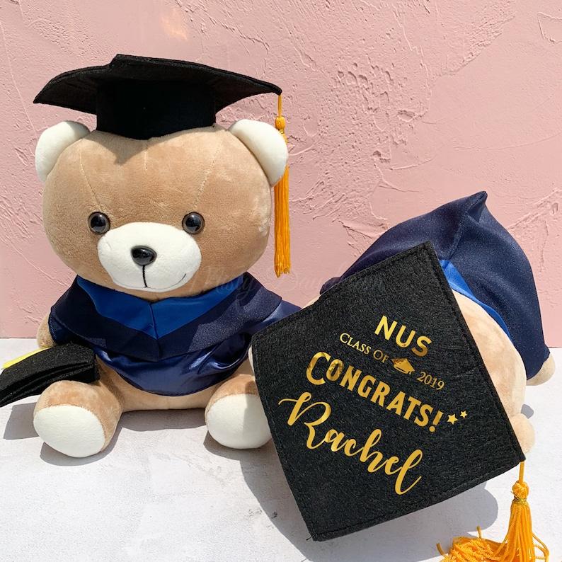 Personalized Graduation Teddy Bear Keepsake