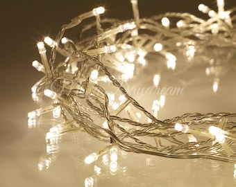 LED String Fairy Lights, Battery Operated, 9 Modes, String Lights, Warm White Bulbs, 4 (40 bulbs) & 10 (80 bulbs) meters, Wedding Lights