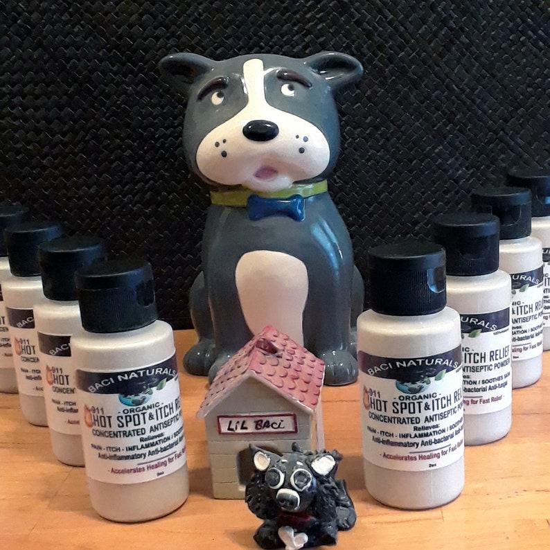 Organic Hot Spot Powder w/ Turmeric for Dogs , Dog Dermatitis, Anti-itch,  wound healing, wet eczema, Hot Spots, Ayurvedic Dog wellness