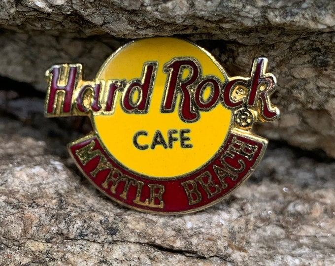 Vintage Hard Rock Cafe Enamel Pin Myrtle Beach Planet Hollywood Bikini Pinup Resort Swimming Pool Pins South Carolina Hotel Vacation Tourist