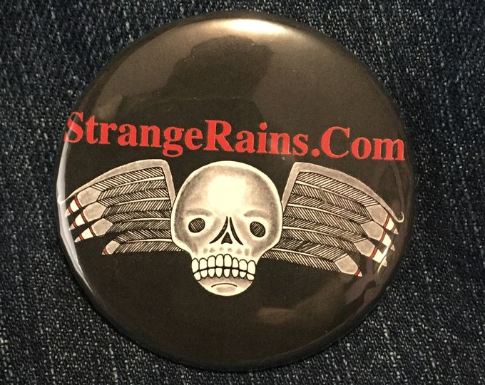 Strange Rains by Art By Kev G  Pin Badge Baphomet Occult Salem Gravestone witchcraft gothic gothic Pentagram Tarot Ouija Witch Witchy Horror