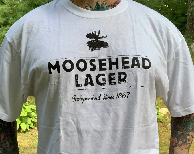 Moosehead Larger Tshirt  (XL) Canadian Moose Ale Brew Pub Brewery Brewhouse Brew Kentucky Bourbon Beer Pong Keystone Lquor Molson Labatts