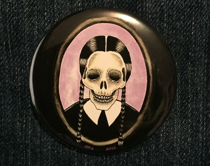 Goth Girl Pins Badge by Art By Kev G gothic goth horror monsters Dracula mummy Boris Karloff Skull Skulls Bela Lugosi artwork gothgoth sexy