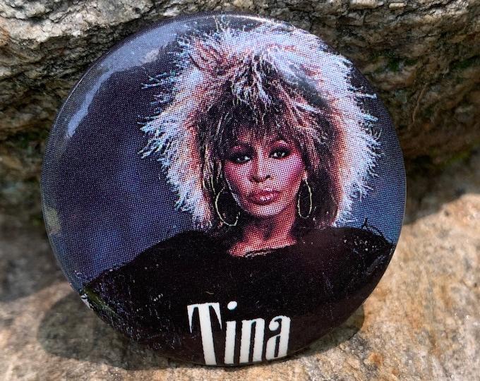 Vintage Tina Turner Pin Badge Pinback Pins Culture Club Lady Gaga Tears for Fears Duran Duran Britney Spears Cher Mariah Carey Madonna