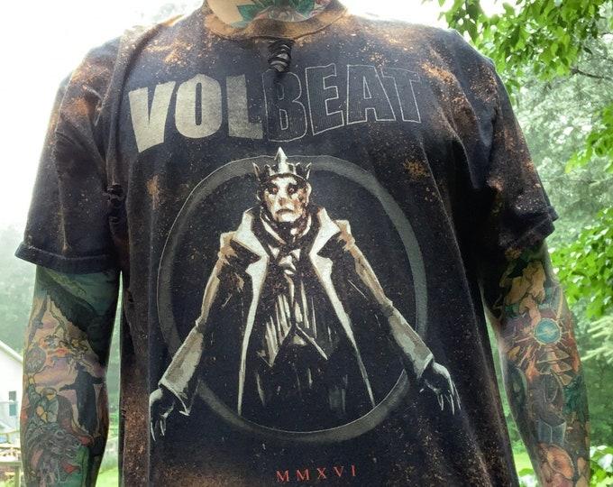 Distressed Volbeat Denmark Band Shirt (XL)  Godsmack Danko Jones Avenged Sevenfold FFDP Anthrax Shinedown Gojira King Diamond Airbourne BFMV