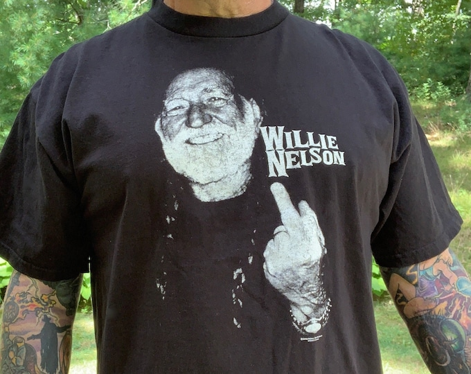 Willie Nelson Band Shirt (XL) Country Music CMA Nashville Memphis Bandtee Marijuana Outlaw Merle Haggard Waylon Jennings Johnny Cash Weed
