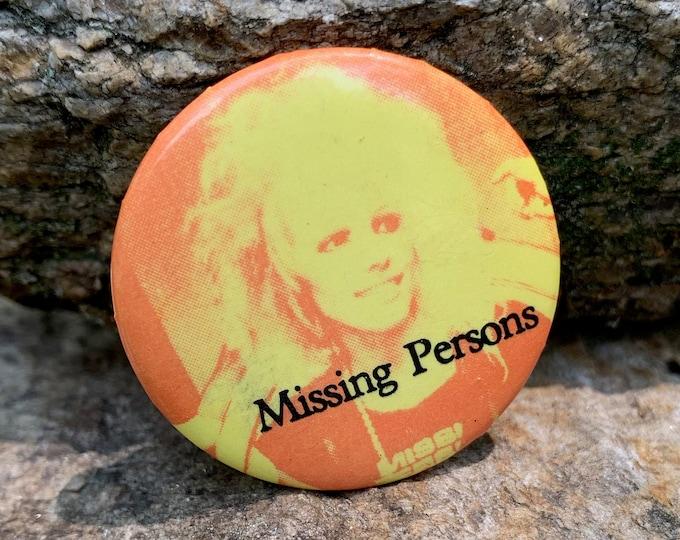 Vintage Missing Persons Dale Bozzio VH1 Duran Duran Pin Badge Pinback MTV Culture Club Spandau Ballet Tears for Fears U2 Inxs Billy Idol