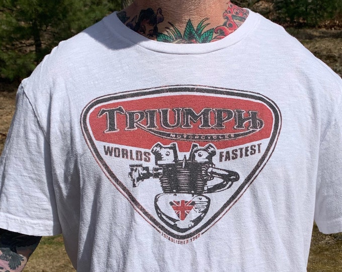 Triumph Motorcycles Shirt (XXL)  Bonneville Bikers Biker Evel Knievel Motorcycle Sons of Anarchy SOA Bikergirl Ducati UK Union Jack Sturgis