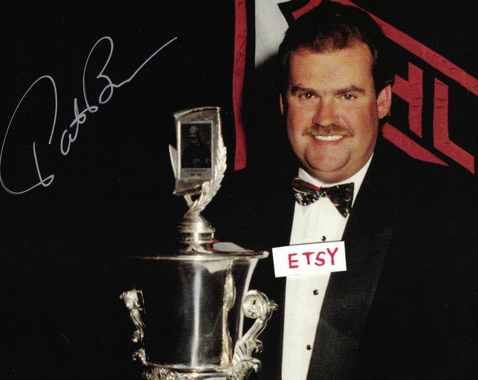 PAT BURNS Toronto Maple Leafs Autographed Boston Bruins Montreal Canadiens Don Cherry Stanley Cup Hockey HOF Sports Trophy Champion Quebec