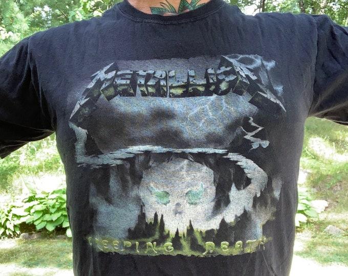 Metallica Band Shirt (M) Creeping Death Metalhead Cliff Burton Kirk Hammett Lars Ulrich James Hetfield Jason Newsted Robert Trujillo Slayer
