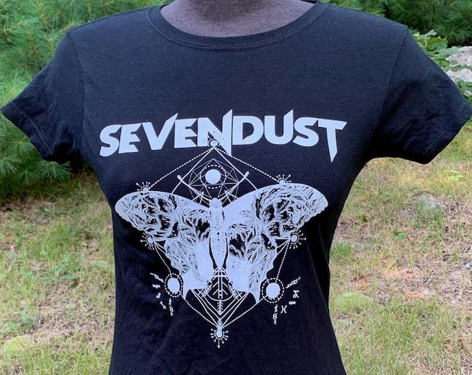 Distressed Sevendust  Band Shirt (Ladies M) StaticX Heavy Metal Korn Metalheads Deftones FFDP Hed PE Godsmack Metalhead Sepultura Kreator