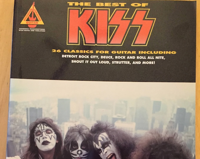 Best of KISS Hal Leonard for guitar - Softcover  sheet music Kiss army kiss band Ace Frehley Paul Stanley Guitar Tabs Love Gun Kiss Alive