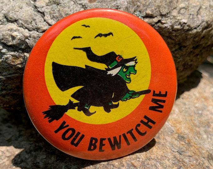 Vintage 80s Witch Pin Badge Baphomet Occult Salem Gravestone Witchcraft Gothic Gothic Pentagram Tarot Ouija Witch Witchy Horror Coven Altar