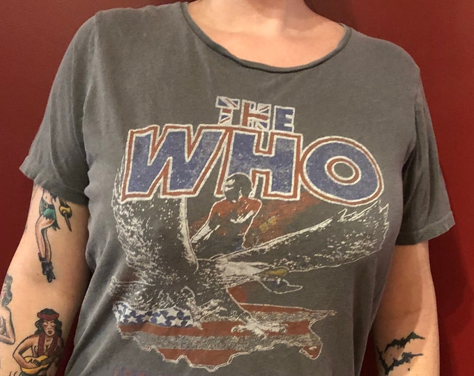 The Who Band Shirt (Small) - Pete Townshend Roger Daltrey Keith Moon Tommy Quadrophenia The Kinks British Invasion Mott the Hoople Mods acdc