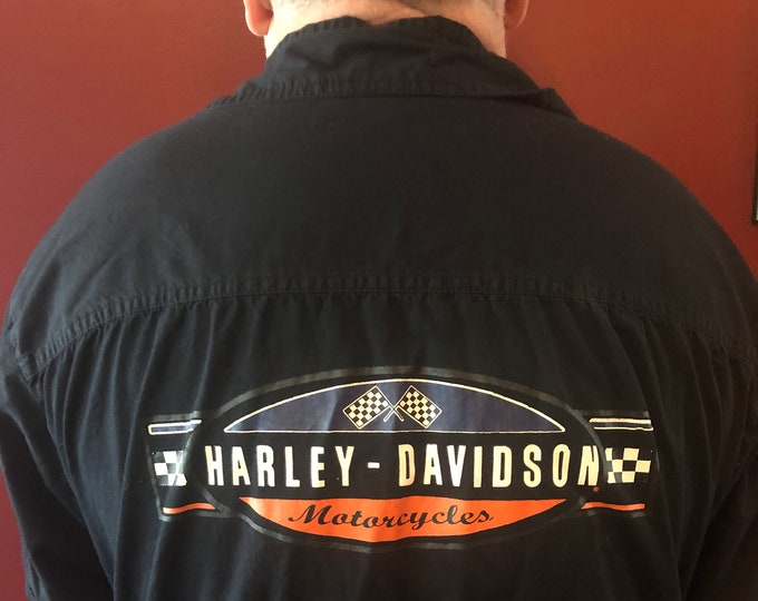 Harley Davidson Motorcycle Work Shirt (XXL) Biker Bikers Motorcycles Outlaw Bike Run Road King Sportster Sturgis Sons Of Anarchy SOA V Rod