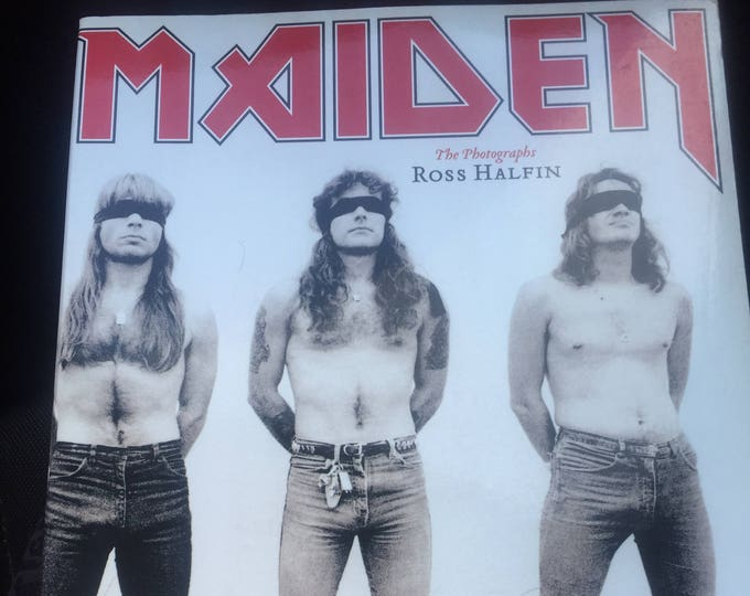 Iron Maiden The Photographs by Ross Halfin Steve Harris Nikko McBrain Bruce Dickinson Paul Dianno Janick Gers Dave Murray Adrian Smith