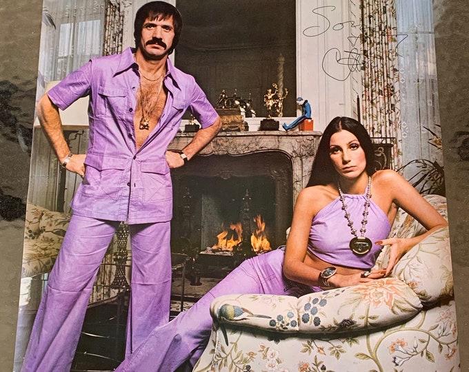 Rare Vintage Sonny and Cher 1973 Poster Dance Dancing Choreography Lady Gaga Christina Aguilera Diana Ross Diva Bette Midler Bob Mackie