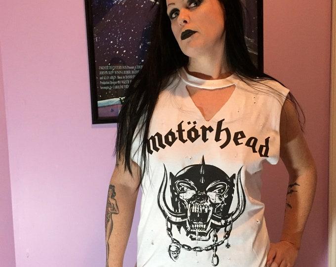 MOTORHEAD Distressed  Band Shirt (Med)  Lemmy Ace of Spades Punks Lemmy Kilmister Heavy metal Hard rock Speed metal Band Tee  Punk Punkrock