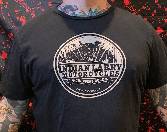 Indian Larry Motorcycles Shirt (XL) Chopper Bikers Biker Evel Knievel Motorcycle Sons of Anarchy SOA Big Daddy Ed Roth Coney Island Stunt