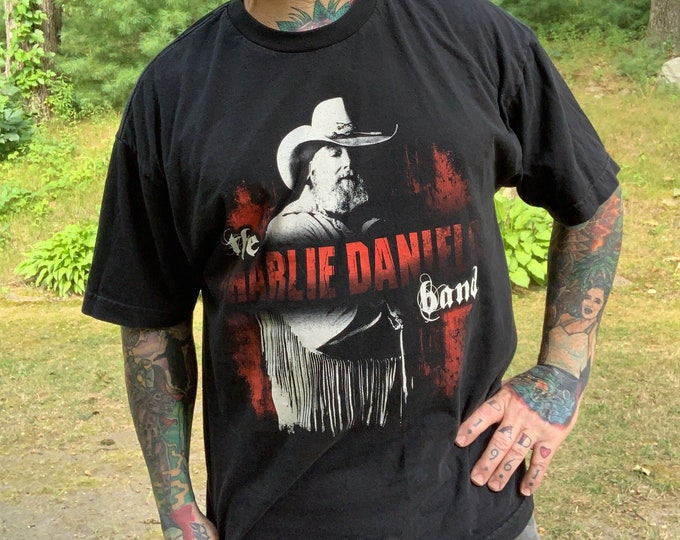 Charlie Daniels Tour Shirt (XL) Violin Fiddle Country Music Nashville Memphis Outlaw Merle Haggard Waylon Jennings Johnny Cash Willie Nelson