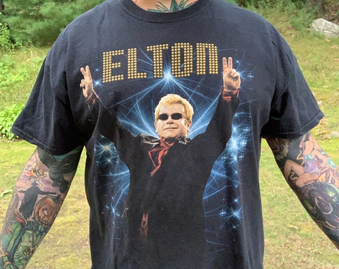 Elton John 2013 Tour Shirt Band Shirt (XL) Rocketman Bernie Taupin Captain Fantastic Bennie and the Jets Crocodile Rock The Who Eric Clapton