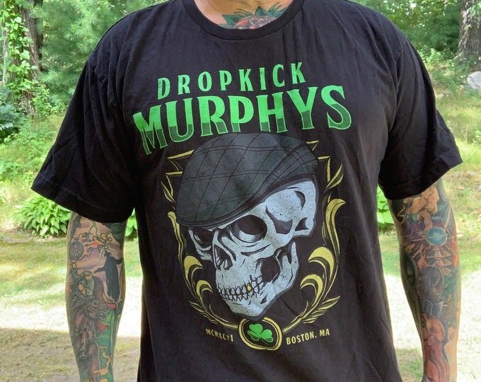 Dropkick Murphys Band Tour Shirt (L) Boston Irish Punk Punks Not Dead Punkrocker Hellcat Hardcore Ken Casey The Mahones Shamrock Red Sox