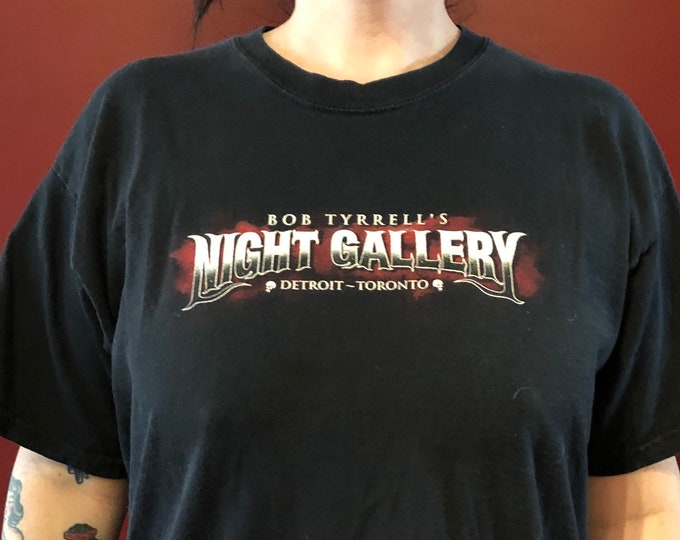 Vintage Bob Tyrrell Nightmare Gallery Tattoo Artist Tshirt (L) Tattooing Tattooed Tattoos Inked Tattooer Tattooist Zombie Zombies Portrait