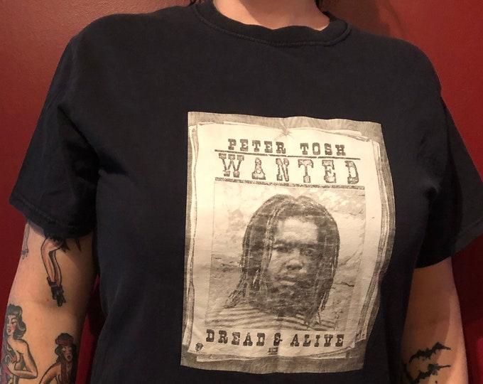 Vintage Peter Tosh BandShirt Reggae Rasta Ganja Dreads lion of judah jamaica rastafari revolution wailers haile selassie Bob Marley Rastaman