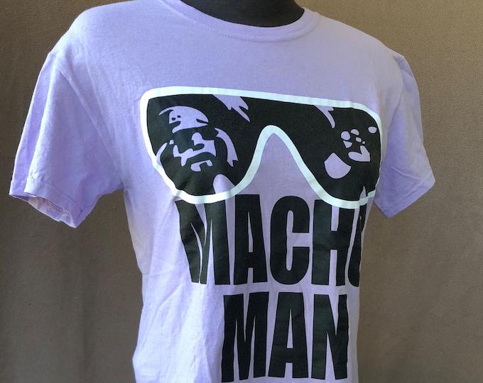 WWE  Randy Macho Man Savage Wrestling Shirt (Small) Hulk Hogan Ultimate Warrior Ricky Steamboat Tito Santana Andre the Giant Honkytonk Man