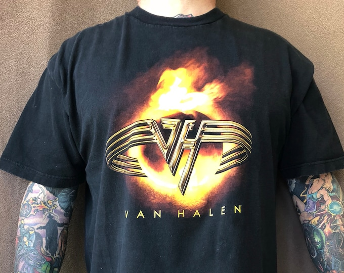 Van Halen Band shirt - (Sz-XL) David Lee Roth Sammy Hagar Band Tee VanHagar  metalhead  acdc motleycrue kissband metallica ozzy bonjovi GNR