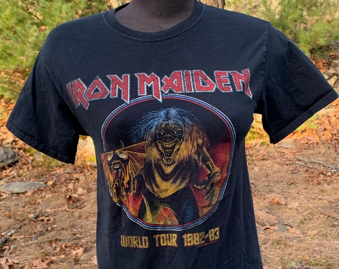 Iron Maiden Band shirt (S) Steve Harris NWOBHM Up the Irons Fear of the Dark Number of the Beast Metalhead Ozzy Osbourne Deep Purple Sodom