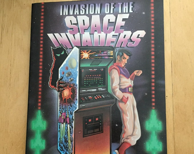 Vintage Space Invaders Softcover Book - 1982 -  Arcade Games Nintendo Final Fantasy Mario Brothers Legend of Zelda Qbert Tetris Donkey Kong