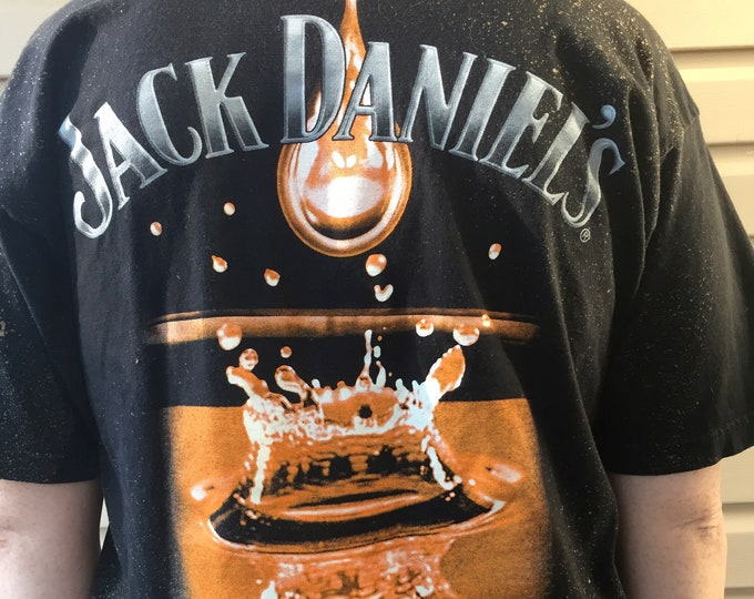 Distressed Jack Daniels MED Tshirt Liquor Tennessee Jim Beam Johnnie Walker Captain Morgan Kentucky Distillers Moonshine Patron Scotch