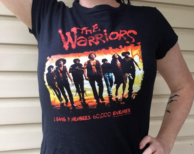 Warriors Movie Shirt - Gang Gangs  Ladies (M) Coney Island NY Cult Movies Baseball Furies gangland punk metal fighting NYC
