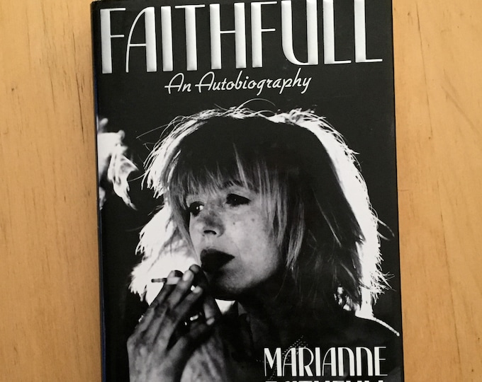 Marianne Faithfull - Vintage Hardcover Book - Autobiography Rolling Stones Mick Jagger Brian Jones Keith Richards Broken English Muse Model