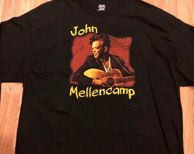 John Cougar Mellencamp 2017 Long Sleeve Tour Shirt (3XL) Band Shirt Bob Seger Steve Miller Aerosmith The Eagles Joe Ely Bruce Springsteen