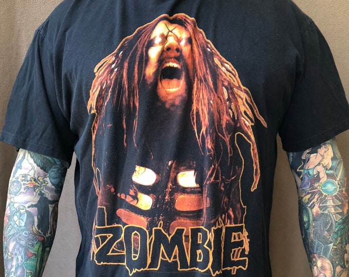Rob Zombie Tour Shirt Band Shirt (XL) Horror 2011 Hell on Earth Tour Sheri Moon Zombie White Zombie Halloween Horror Slipknot Alice Cooper