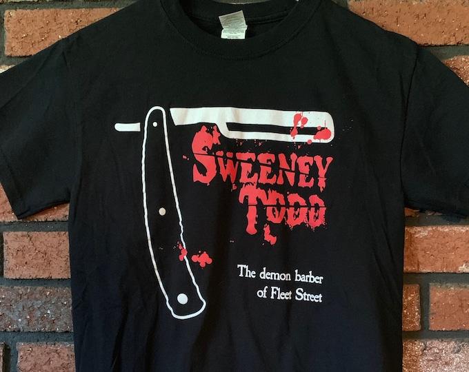 Sweeney Todd Tim Burton Movie Shirt Johnny Depp Barber Straight Razor (S) Edward Scissorhands Helena Bonham Carter Christopher Lee Gore Sexy