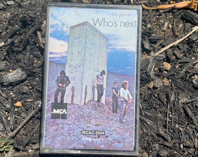 Vintage 1971 The Who Who's Next Cassette Tape Rodger Daltrey Keith Moon David Coverdale Black Sabbath Whitesnake Judas Priest Pete Townshend
