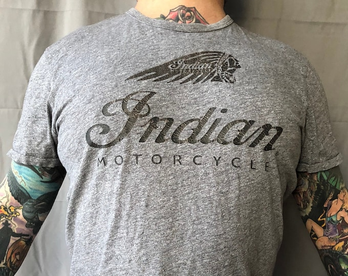 Indian Motorcycles shirt L Worlds Fastest Indian Bonneville Bikers Biker Evel Knievel Motorcycle Sons of Anarchy SOA Roadmaster Scout Bobber