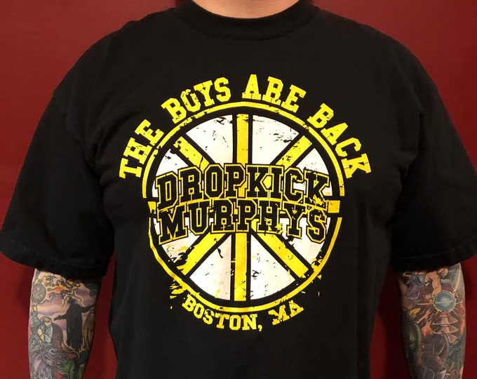 Dropkick Murphys Band Shirt (XL) Boston Irish Punk Punks not Dead Boston Bruins Hellcat Ken Casey The Mahones Shamrock Beantown Hockey Fight