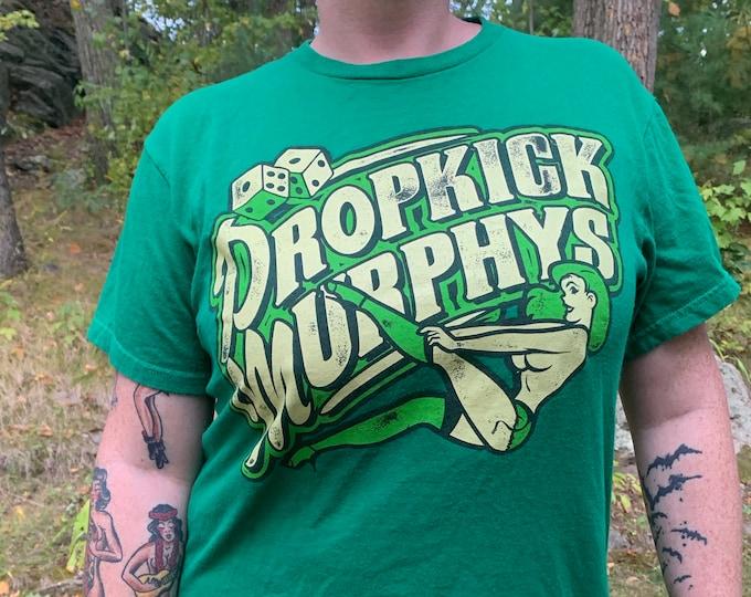 Dropkick Murphys Band Shirt (M) Boston Irish Punk BandTee Punks Not Dead Punkrocker Hellcat Hardcore Ken Casey The Mahones Shamrock Beantown