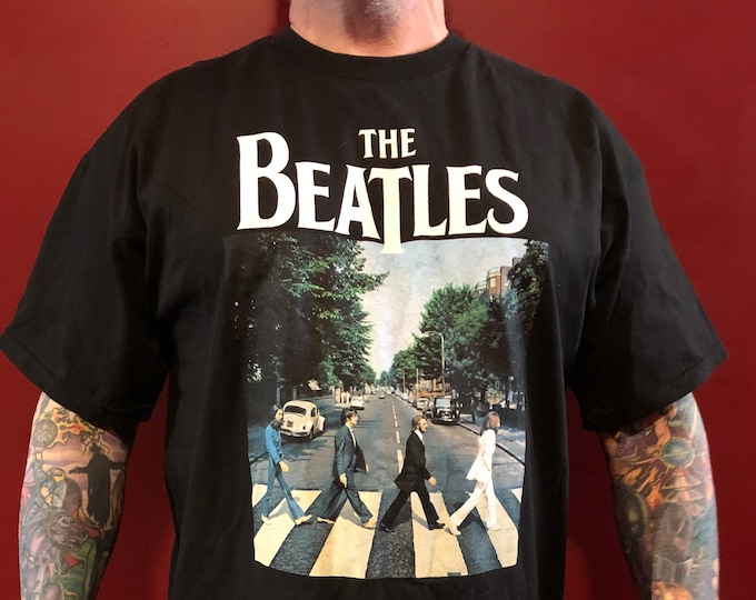 BEATLES Abbey Road Band Shirt XL John Lennon Paul McCartney Revolver Helter Skelter Ringo Starr George Harrison Fab4 Eric Clapton Yardbirds