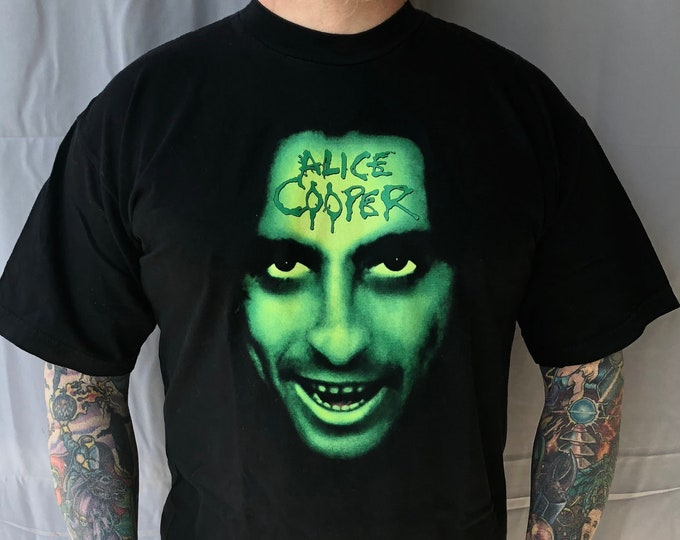 Alice Cooper 2000 Tour Shirt Rock Tee Band  (L) band shirt welcome to my nightmare Billion Dollar Babies Rob Zombie Marilyn Manson shockrock