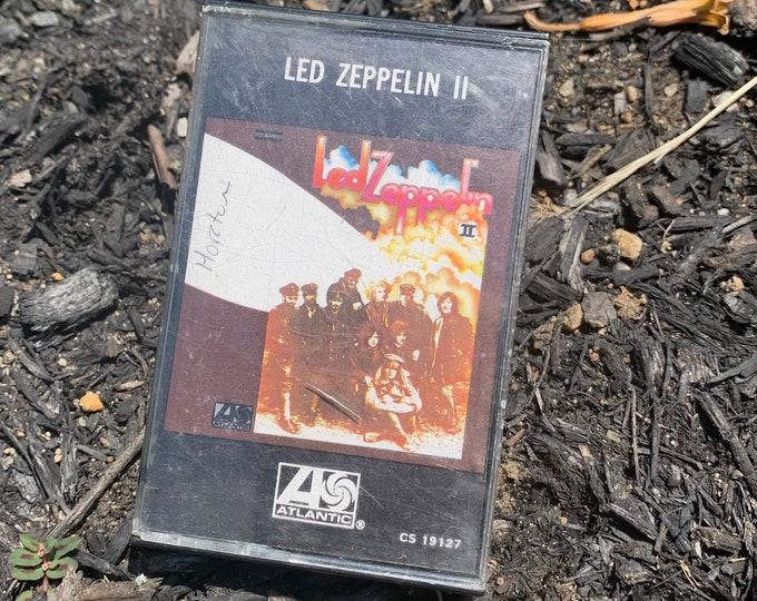 Vintage  Led Zeppelin 2 Cassette Tape Jimmy Page Robert Plant David Coverdale Black Sabbath Whitesnake Judas Priest Pink Floyd Aerosmith