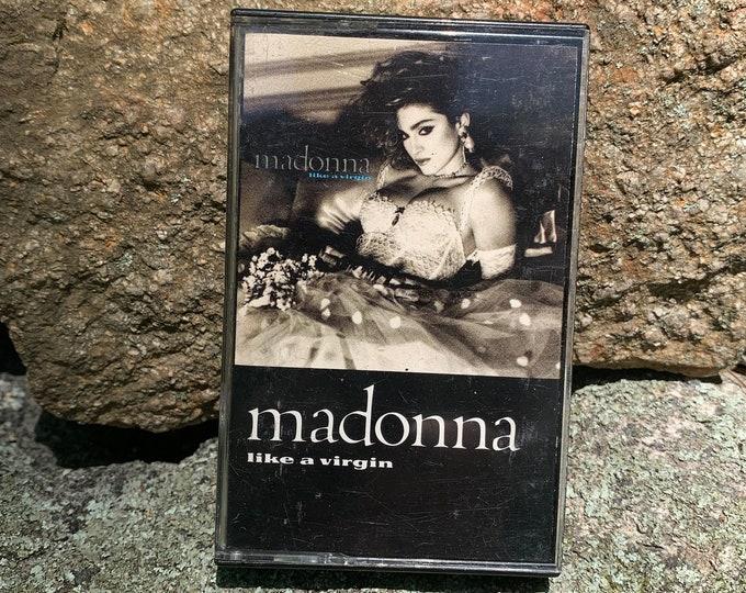 Madonna Like a Virgin Cassette Tape Lady Gaga Britney Spears Christina Aguilera Cyndi Lauper Cher Beyonce Mariah Carey Whitney Houston MTV